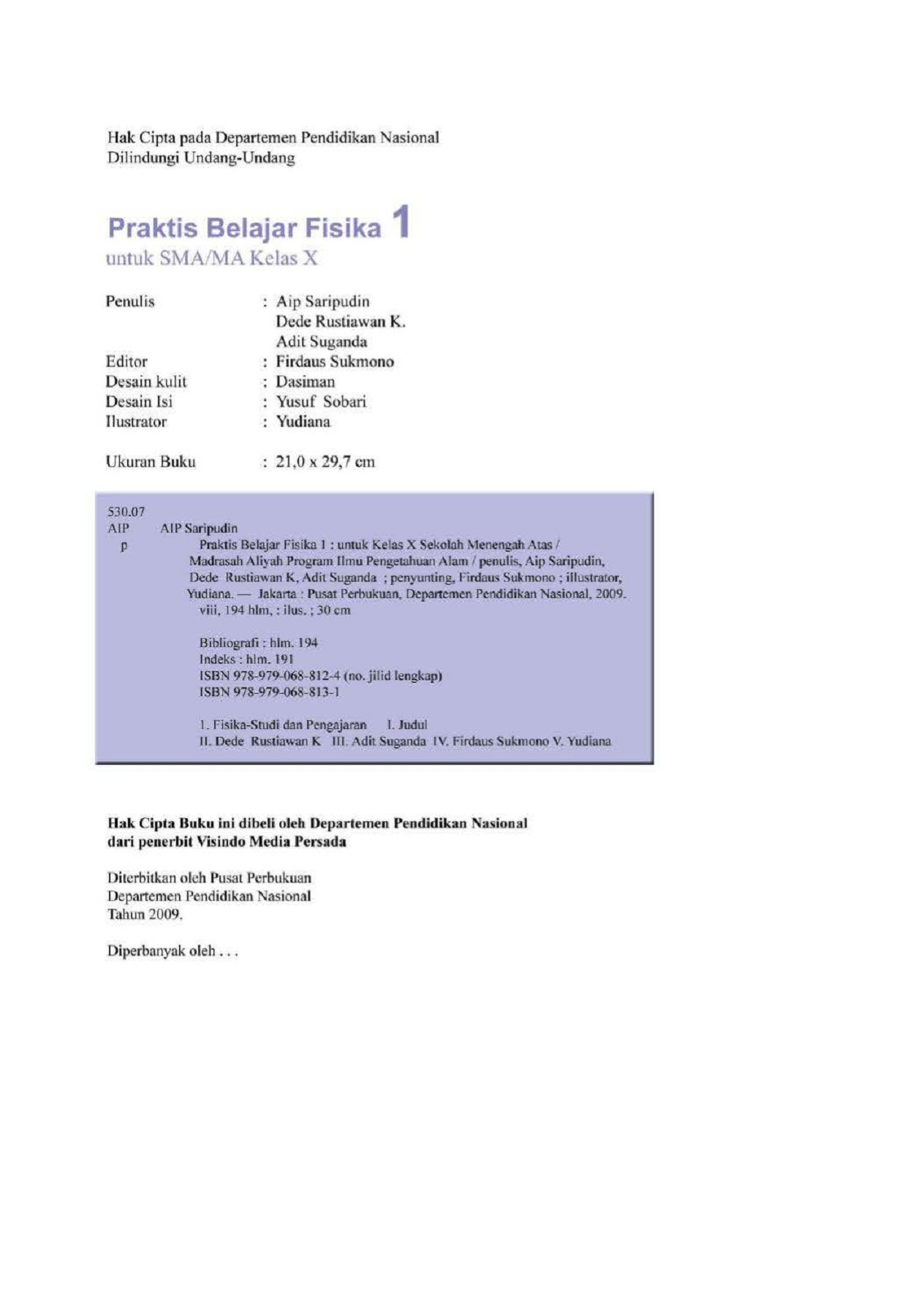 Praktis Belajar Fisika SMA X Jilid 1 Aip Saripudin dkk Pages 1 50 Text Version