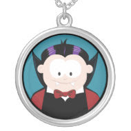 Cartoon Vampire Halloween Pendant necklace