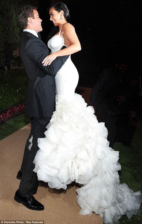 Kim Kardashian dons wedding dress number 2 at reception