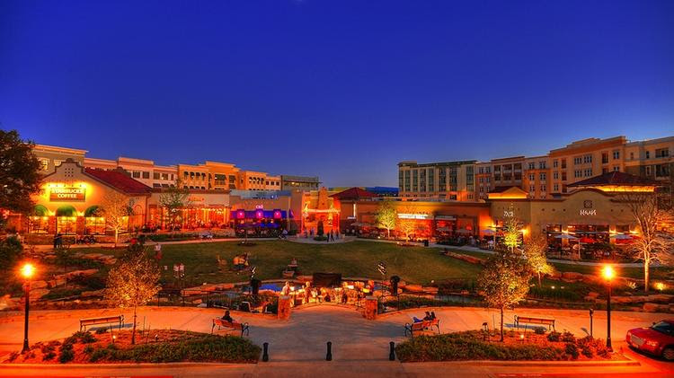 Allen's Watters Creek is one of the shopping destinations in the North Texas city that's attracting corporate clientele to the city.