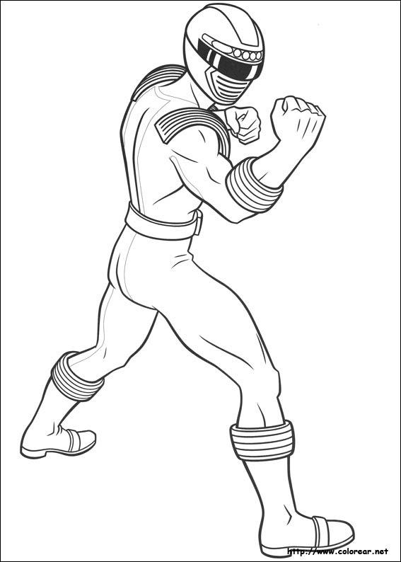 Dibujos De Power Rangers Para Colorear En Colorearnet