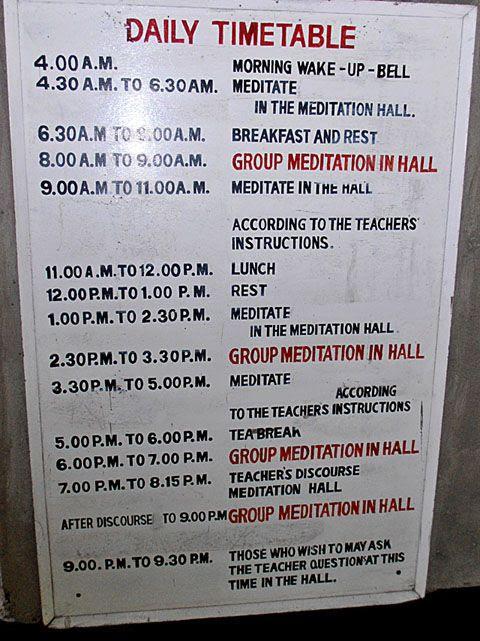9 Tage! Täglich rund 11 Std. stille Meditation. Vipassana nach ...