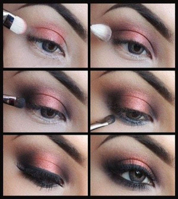 Coral Smokey Eye Makeup Tutorial   Beauty Tutorials