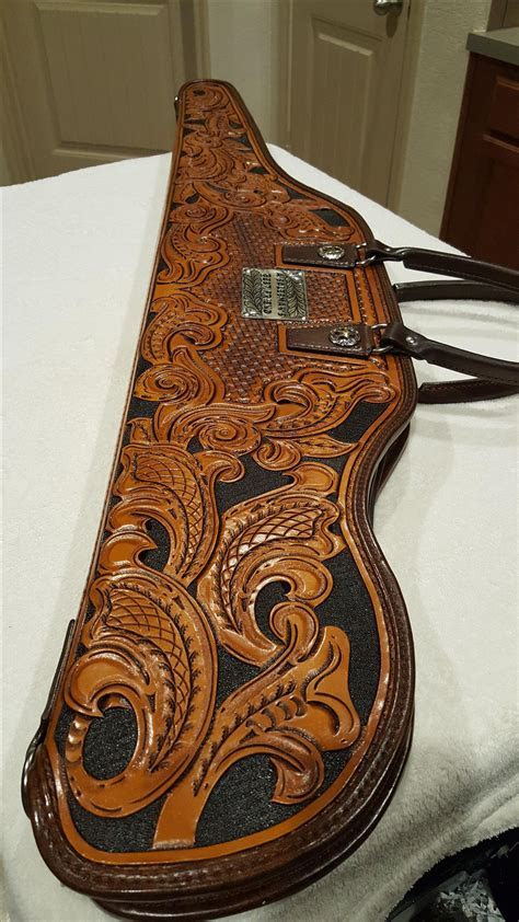 Buy a Hand Made Custom Tooled Leather Rifle Case, made to