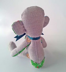 Sock Monkey Style Fabric Monkey(back)