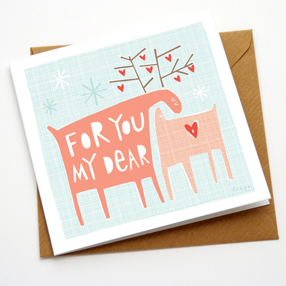 For you my dear - Greeting Card