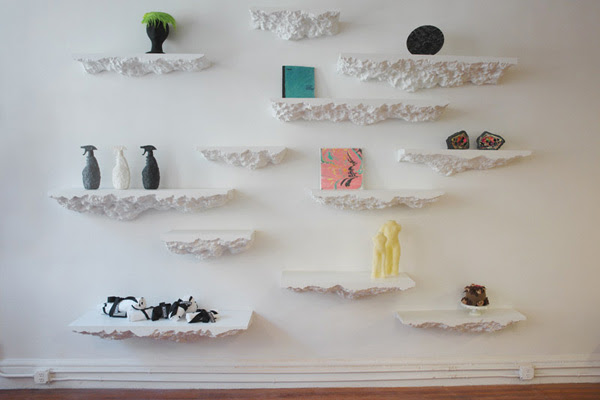 Snarkitecture Rocky Shelves | InteriorHolic.
