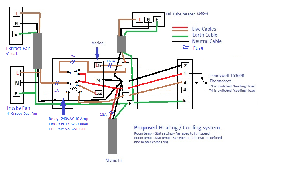 Wiring Diagram For Honeywell T6360b