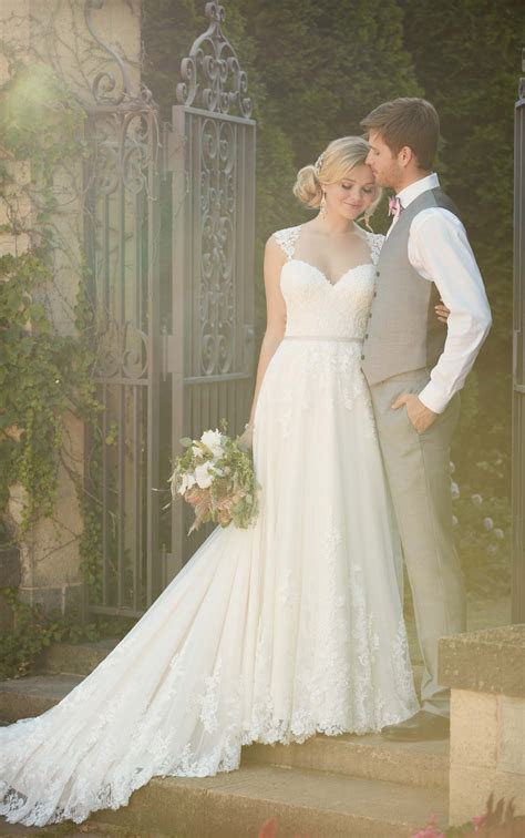 Satin Beach Wedding Gown   Essense of Australia