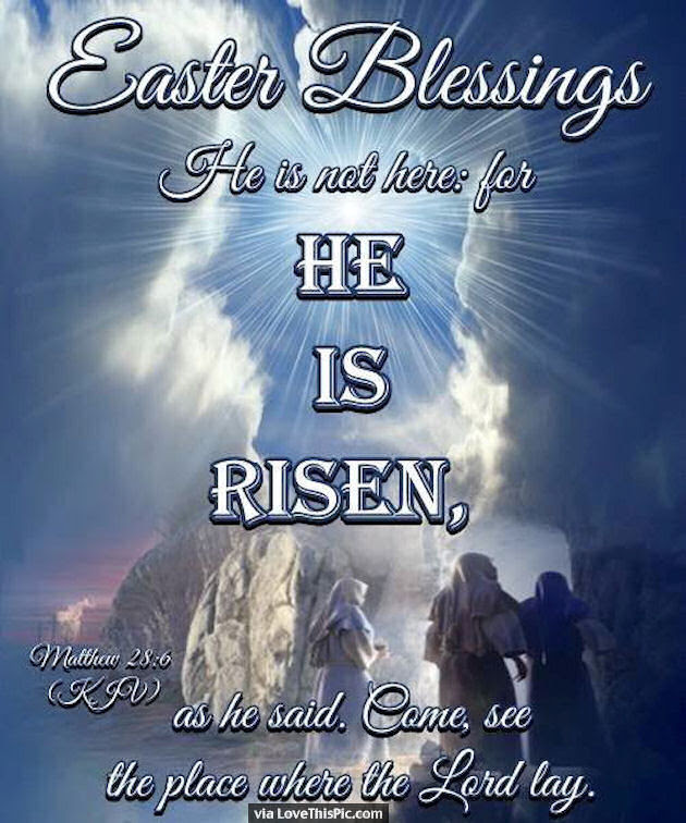 Easter Blessings He Is Risen Religious Quote Pictures Photos And