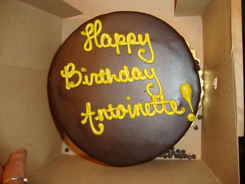 vegan birthday cake.  Happy Birthday Antoinette!