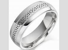 Irish Wedding Ring   Mens Celtic Knot Gold Beaded Irish Wedding Band at IrishShop.com   CELCO2009G