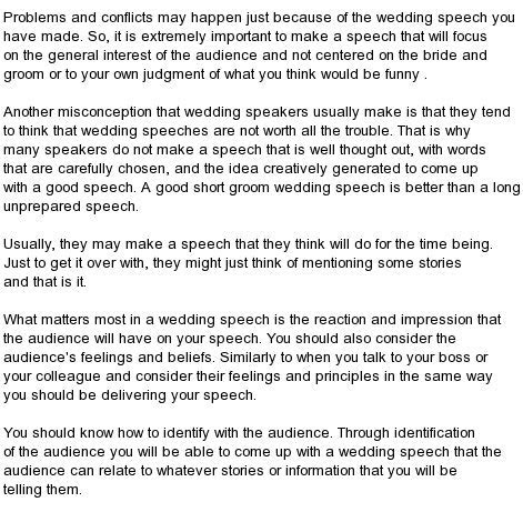 All kind of Best Wedding Speeches : Great Best Man Wedding