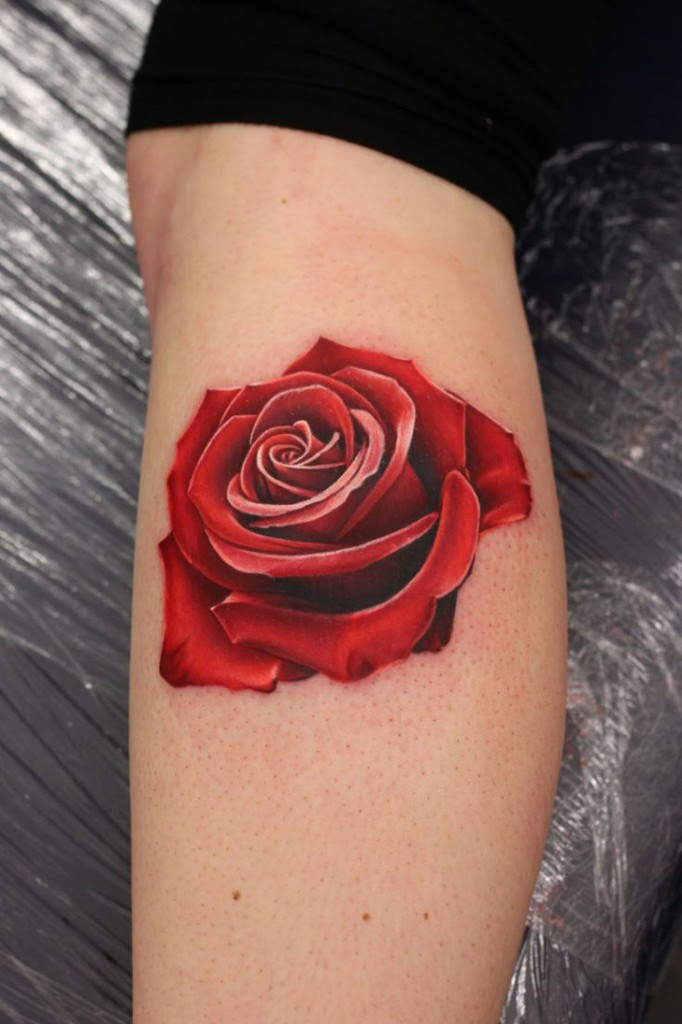 Realistic Red Rose Tattoo Best Tattoo Design Ideas