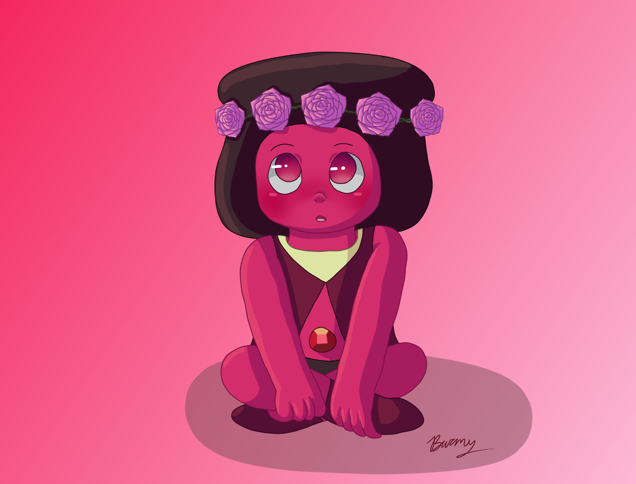 I drew Navy for the upcoming episode of Steven Universe, Room for Ruby!! :D Who else is excited? I'm gonna upload the speedpaint I made of this drawing on Friday when it's out.
