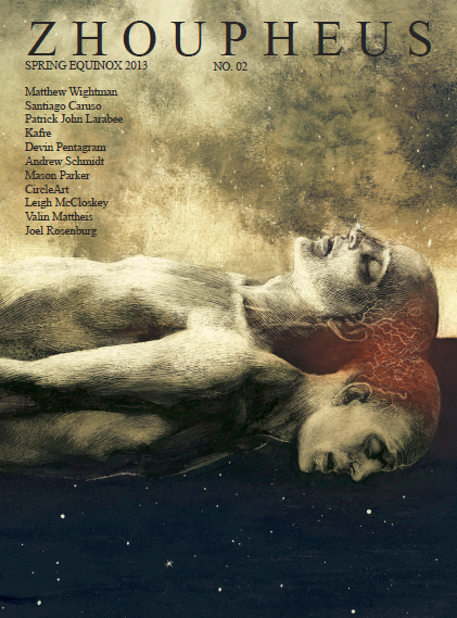 Santiago Caruso: Cover image and portfolio brochure on Zhoupheus issue II, released on March the 20th preview