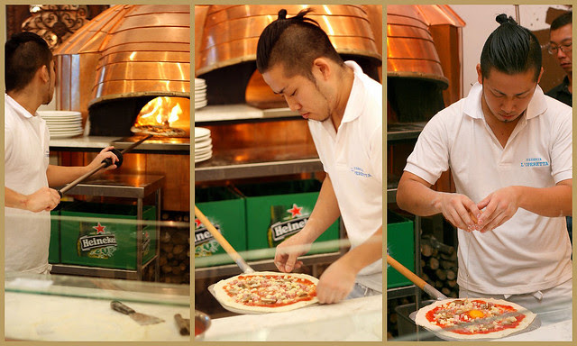 Naples-trained Japanese pizza specialist using oven from Naples