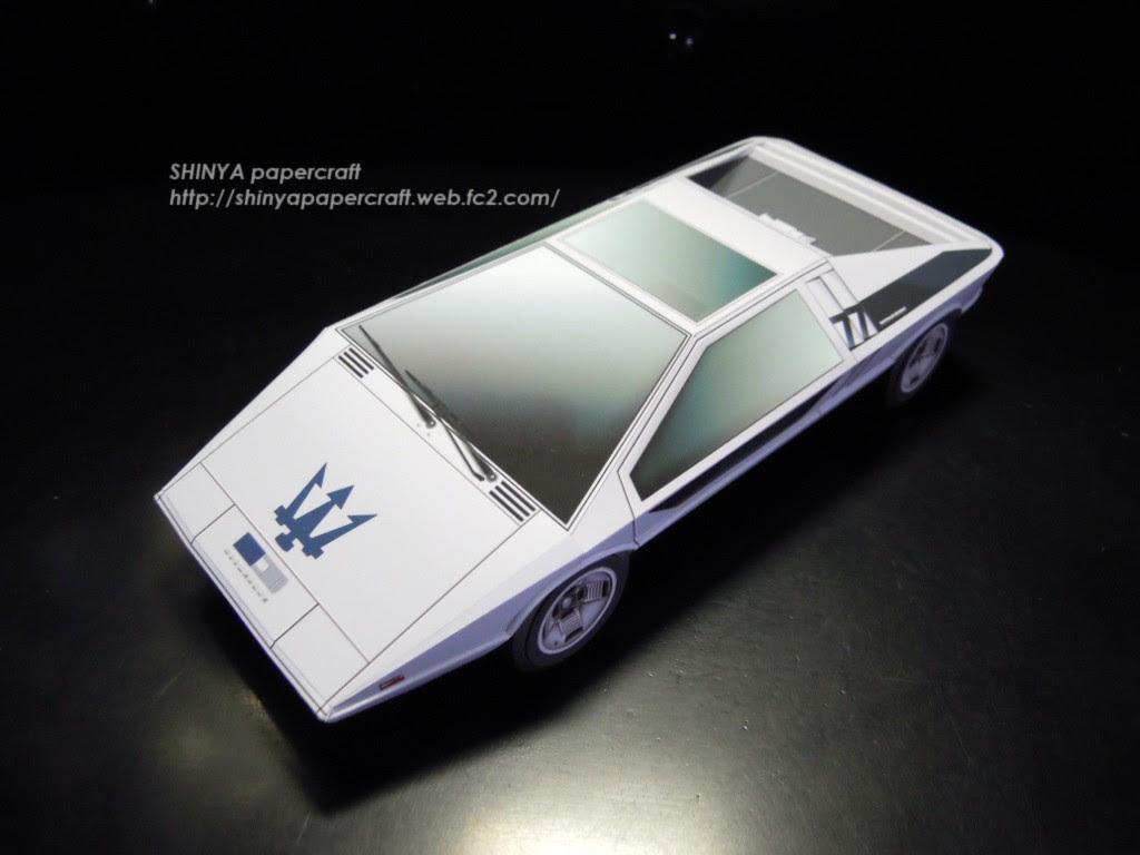 Maserati Boomerang Papercraft