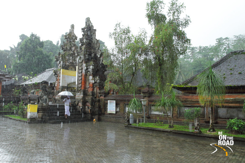 A rainy moment from Pura Tirtha Empul temple, Bali