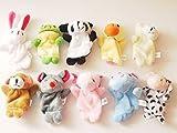 Star Room 12支 指人形セット フィンガー パペット 動物 子ども 保育園 幼稚園 家庭 で (動物10個)