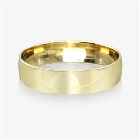 9ct Gold Men's Wedding Ring 5.5mm