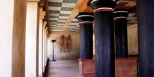 Patio interior del Palacio de Cnossos en la Isla de Creta (Grecia)