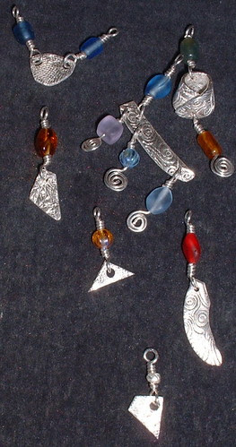 silver bits and beads
