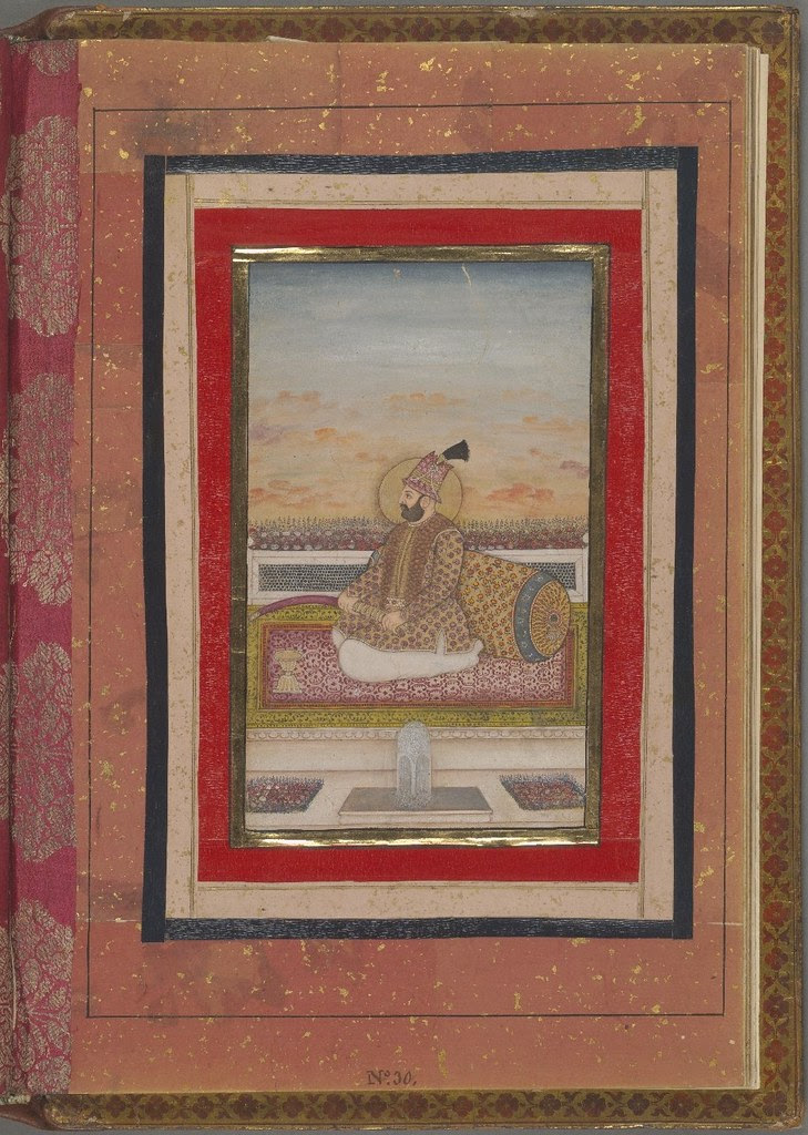 Portrait of a prince in Persian dress fol. 30r