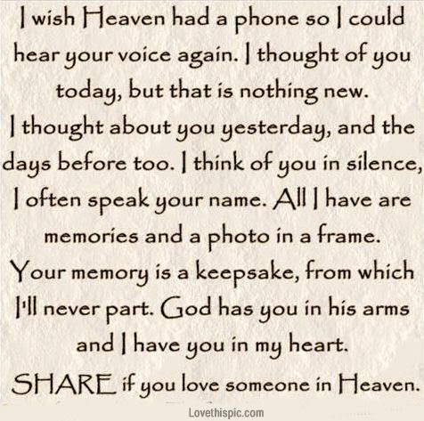 Quotes About Family In Heaven 34 Quotes