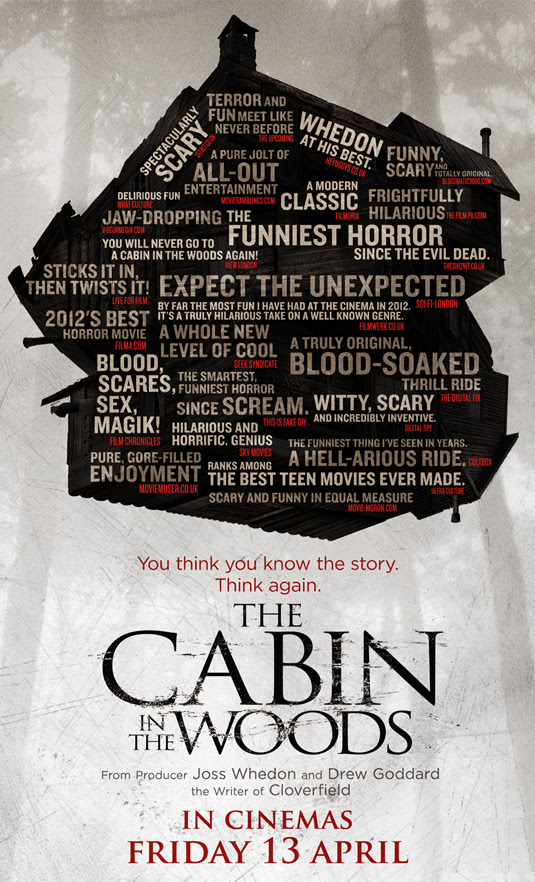 This New The Cabin In The Woods Poster Quotes Every Blog But Ours