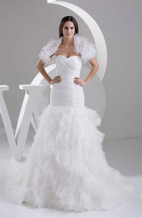 White Allure Bridal Gowns Sexy Expensive Western Backless