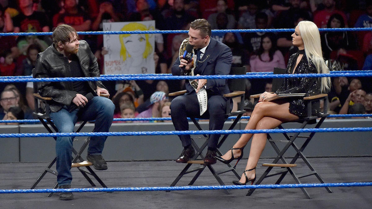 The Miz asks Ambrose just how angry is he at Ellsworth for costing him the WWE World Title at WWE TLC.