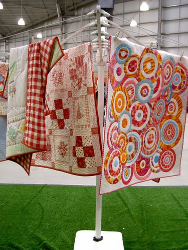 Clothesline of quilts