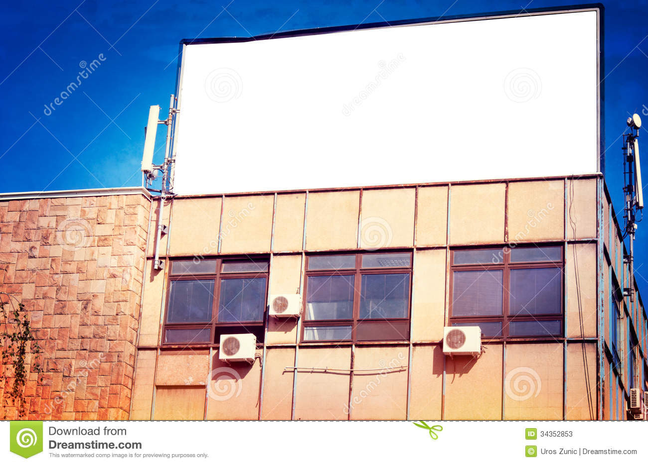 Billboard On The Building Stock Photos - Image: 34352853