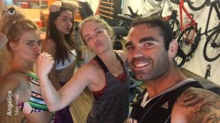 Carolina Dieckmann, Anitta, Angelica e Chico Salgado (Foto: Reprodução/Instagram)