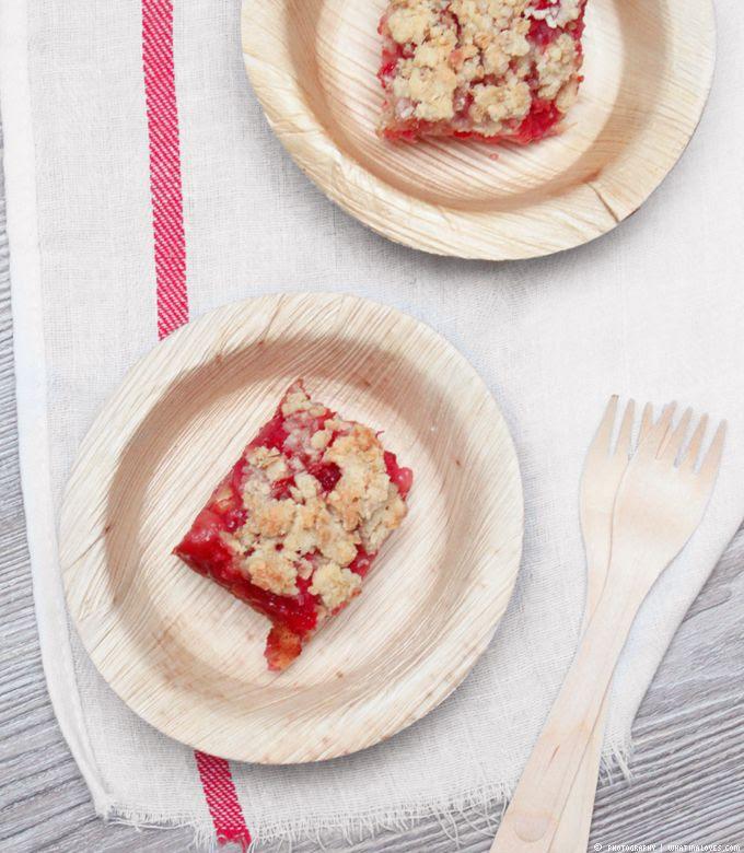 Erdbeer-Crumble-Cake, Crumble, Erdbeerkuchen, Picknick, Kuchen, Erdbeerkuchen