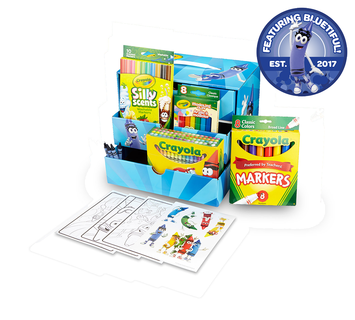 New Crayola Art Gift Set for Kids 100 Pcs