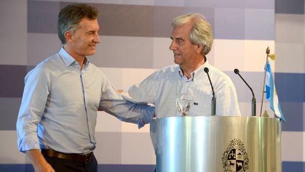 Mauricio Macri y Tabaré Vázquez se verán el lunes.