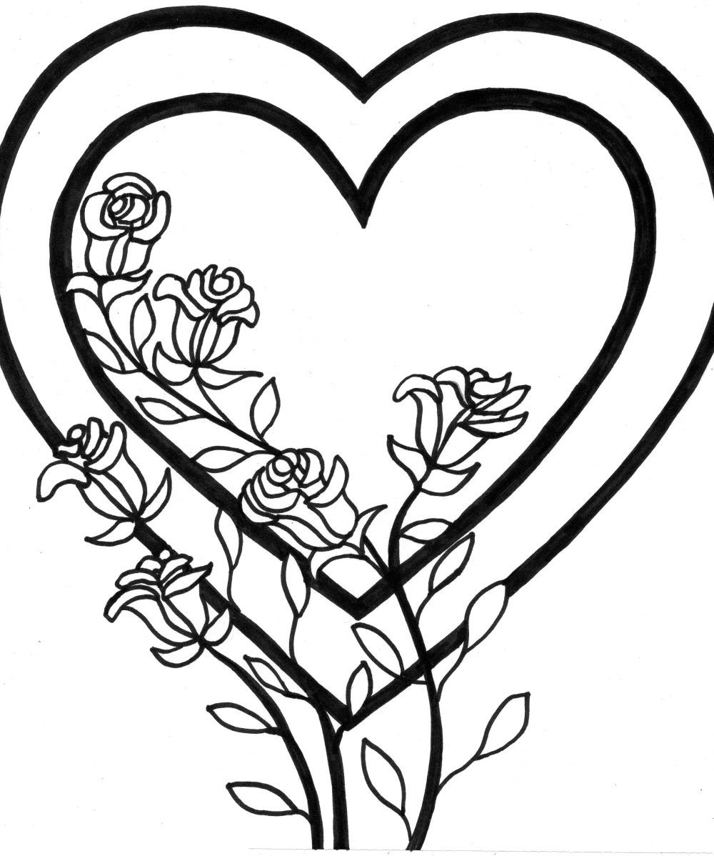 - Free Printable Heart Coloring Pages For Kids - Coloring Pages