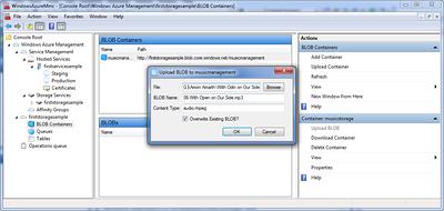 Uploading a BLOG File (A Music MP3)