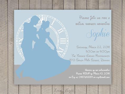 "Bridal shower invitation Cinderella 5"" x 7""   Digital file"