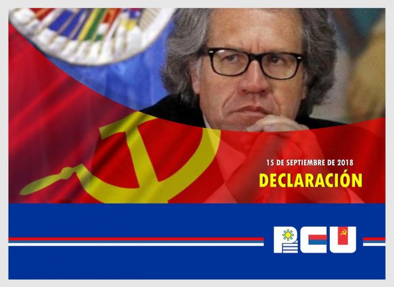 Declaración del PCU: Condena a Almagro y su propuesta de invasión a Venezuela – 15/9/2018