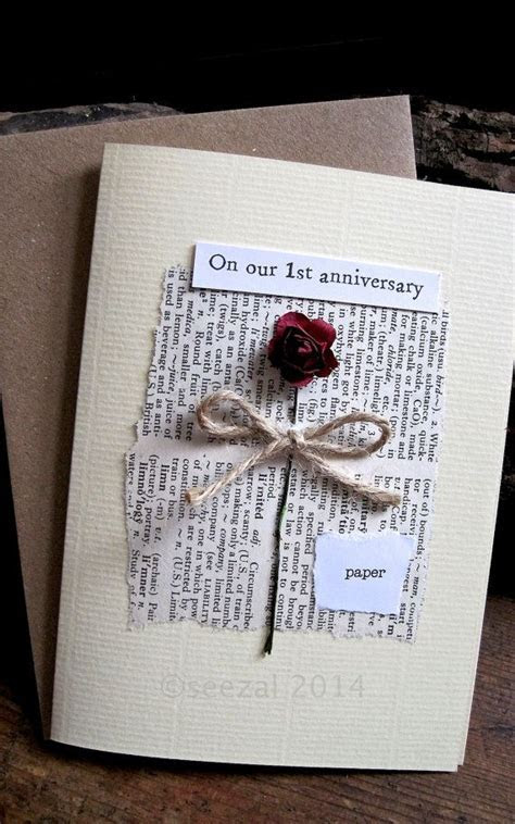Romantic and understated. First Wedding Anniversary card