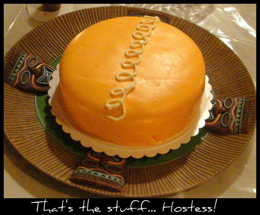 cake on platter