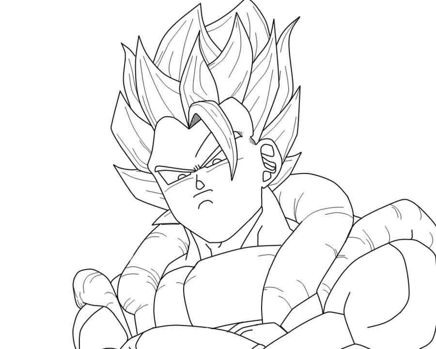 Desenhos Do Goku Super Saiyajin 4 Para Colorir