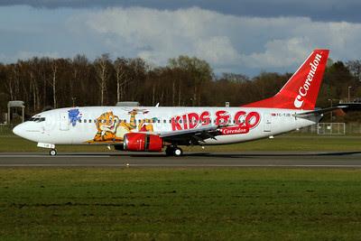 Corendon Airlines Boeing 737-3Q8 TC-TJB (msn 27633) (Kids and Company) HAM (Gerd Beilfuss). Image: 908219.
