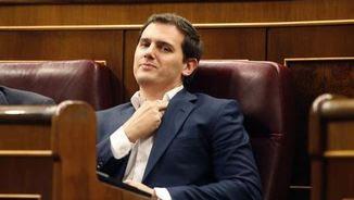 Albert Rivera, aquest dimecres, al ple del Congrés (EFE)