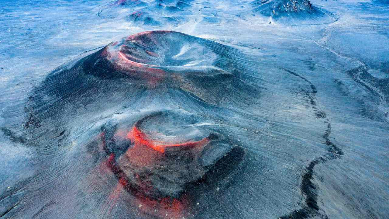 Spanish electrician and photographer Fran Rubia was the winnder of the Landscapes, Waterscapes, and Flora category with his drone image titled 'Another Planet' of an extinct volcano in the Fjallabak Nature Reserve, Iceland. The red visbile in the image is iro'n oxide tha is being hit by the midnight sun.