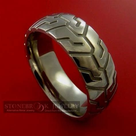 Motorcycle Tire Tread ring   Clothing & Jewelry