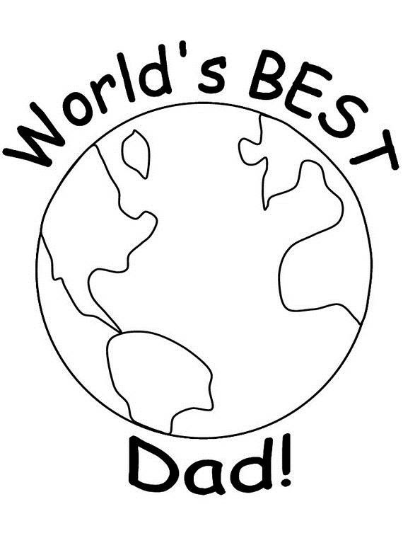 Happy Fathers Day Coloring Pages for Kids - family holiday ...